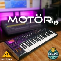 Behringer Motor 49 Keyboard Synthesizer MIDI Controller with Drum Pad