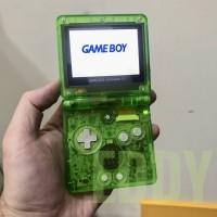 Nintendo Gameboy Advance GBA SP Game Boy custom extreme green case