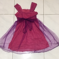 Gaun pesta Fuschia dress