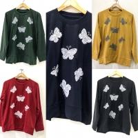 Blouse sweater casual jumbo XXL tangan panjang untuk kuliah, jalan2