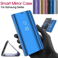 Mirror case flip cover clearview standing cover vivo Y 83