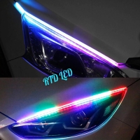 Lampu Alis RGB Drl Flexibel Slim RGB Remote Rubah Warna 45 Cm HS R167