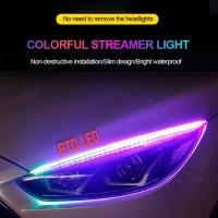 Lampu Alis RGB Drl Flexibel Slim RGB Remote Rubah Warna 30 Cm HS R166