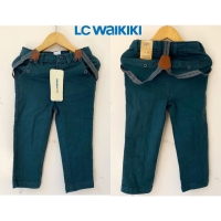 Celana panjang anak dengan suspender belt branded LC Waikiki (hijau)