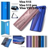 Flip cover hard mirror case vivo v15 pro Y91 Y93 Y95 standing