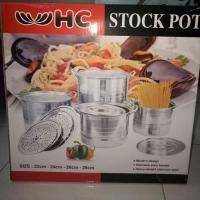 Panci Tinggi set / Stock Pot / Steamer 4 in 1