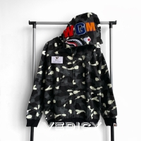 HOODIE BAPE SHARK CITY CAMO GLOW IN THE DARK FULL ZIP FULL TAG