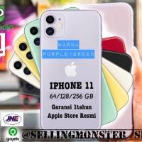 Iphone 11 256gb green / purple original new garansi apple store 1 thn