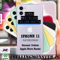 Iphone 11 64gb red/white/yellow black garansi 1thn apple store resmi