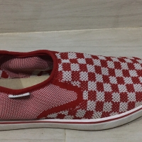Vans Surf Sider - Checkerboard Red And White No 41