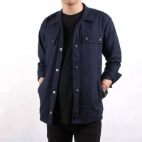 Jacket semi parka(Trucker)navy