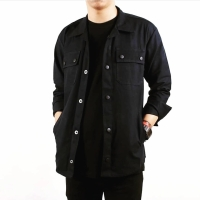 Jacket semi parka (black)