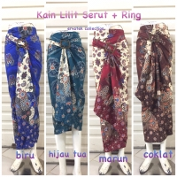 Rok Lilit Serut Batik R005 Semi Sutra Wrap Skirt Bawahan Kebaya Blus