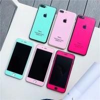 Tempered Glass Glitter Warna Iphone 6 6S 6+ 6S+ 7 7+ 8 8+ X XR XS MAX