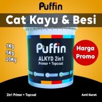 Cat besi anti karat PUFFIN alkyd 2in1 1kg / cat minyak 2 in 1