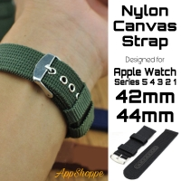 Apple Watch Strap Nylon Canvas RUGGED LOOK BAND Series 5 4 3 2 1