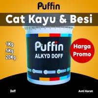 Cat kayu besi PUFFIN ALKYD ENAMEL DOFF 1kg cat minyak