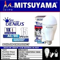 Bohlam lampu emergency LED 15 watt MS E3915 Mitsuyama