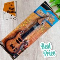 Mainan gitar anak model kayu wood senar alat musik petik music guitar