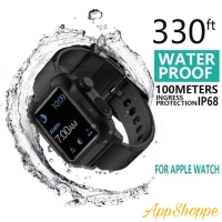 Waterproof Case Strap for Apple Watch Band Silicone Strap 42mm 44mm