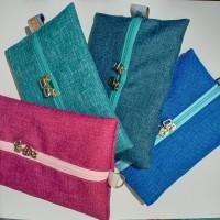 Cover Tissue Travel Polos Tempat Tisu Kering Gift Souvenir Murah