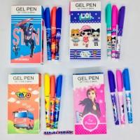 Pulpen Gel Fancy Gel Pen LOL Frozen Tayo Avenger