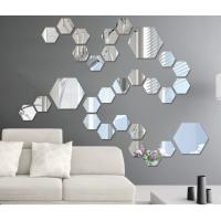 sticker dinding size L sticker cermin stiker hexagonal wall sticker