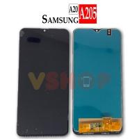LCD TOUCHSCREEN SAMSUNG GALAXY A20 - A205 FULLSET - Hitam