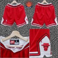 Jersey Basket Swingman Celana Chicago Bulls classic merah red white