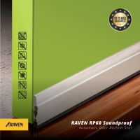 Raven Automatic Door Bottom Seal RP 60 Clear A.(silver)/Seal otomatis