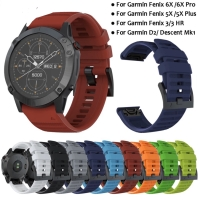 STRAP TALI JAM QUICK EASY FIT RUBBER SILIKON BAND GARMIN FENIX 5X 6X