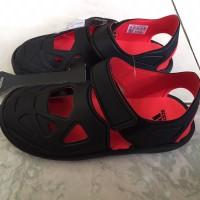 SANDAL ADIDAS FORTASWIM 2C BLACK RED KIDS ORIGINAL