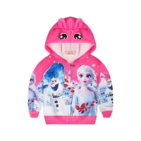 Jaket hoodie anak cewe perempuan Frozen 2 Bunny Ears Lucu import