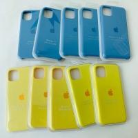 Premium Apple Silicone Grade AAA+ Blue Azure & Yellow Stabilo iPhone