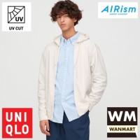 UNIQLO AIRism Jacket Men Jaket Pria UV CUT Hoodie Retsleting Off White