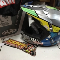 Helm fullface cross supermoto by HJC original Korea CL-XYII Avengers