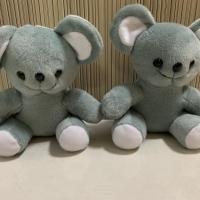 2 pcs boneka binatang koala abu abu