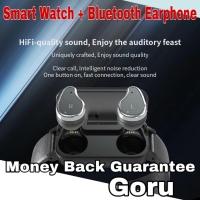 Jam tangan smart watch earphone Headset wireless Music Iphone Android