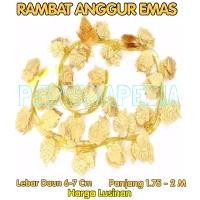 LUSINAN Daun Rambat Gantung/ Daun Rambat Dekorasi/ Daun Emas