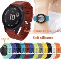 STRAP TALI JAM QUICK EASY FIT RUBBER SILICONE BAND GARMIN FENIX 5S 6S
