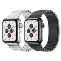 STAINLESS STEEL BRACELET LINK STRAP APPLE WATCH 1 2 3 4 5 ORIGINAL - Hitam