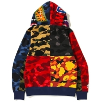 Bape Mix Camo Shark Full Zip Hoodie 100% Authentic Guarantee L