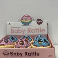 Mainan bayi Rattle ball baby rattle bola kerincing aktivitas hrg 1pc