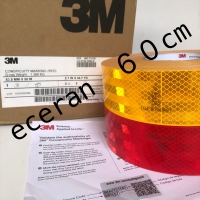 [60cm] stiker pemantul cahaya 3M 983 dishub uji KIR E 104 R