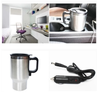 DV kettle electric car mug heating gelas pemanas air di mobil