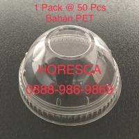 Dome Lid 7.8 No Lubang / Tutup Cup Plastik SIP 8-10 Oz Cembung @50 pcs