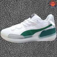 Sepatu Basket Sneakers Puma Clyde Hardwood White Green Pria Wanita
