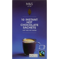 M&S Marks Spencer 10 Instant Hot Chocolate Sachets Minuman Coklat Coco