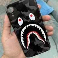 Painted BATHING APE BAPE Shark Camo Iphone XR casing case !