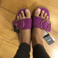 SALE 50% Sandal RUBI purple gesper